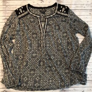 Lucky Brand • Embroidered Patterned Blouse